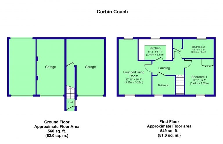 Colour Floorplan - Corbin Coach