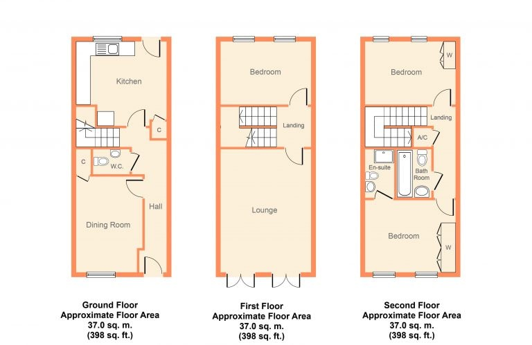 Colour Floorplan - Orchard Close